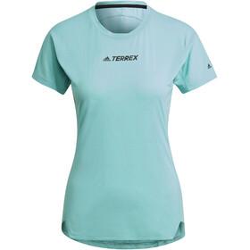 adidas TERREX Parley Agravic TR Allaround T-Shirt Women, acid mint